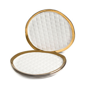 QUILTED DINNER PLATES SET OF 4
