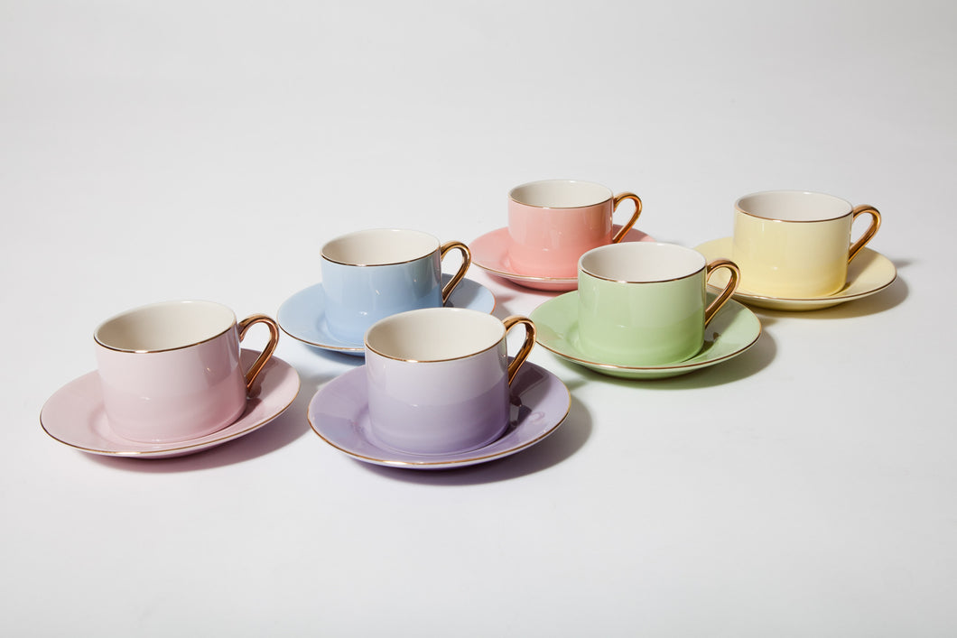 7.0oz Cup & Saucer (Set of 6)