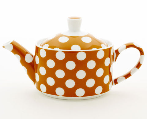 Small Pumkin Orange Teapot
