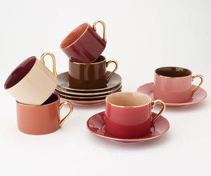 7.0 OZ. Cup and Saucer (set of 6)