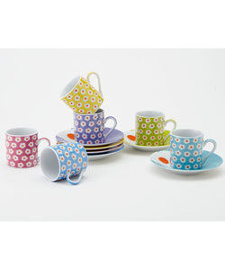 Assorted Daisy Espresso Set