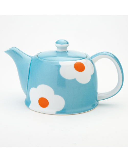 Light Blue Daisy Teapot