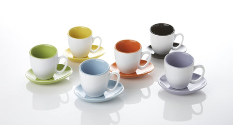 Espresso 4.0 oz Cup and Saucer (set of 6)