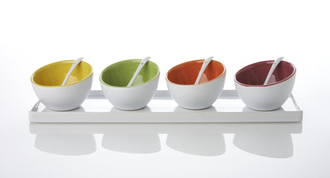 Contemporary Sauce Dish Tray  (set of 4)