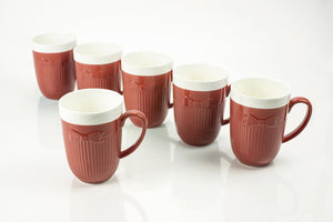 RED MUGS 10OZ. (Set of 6)