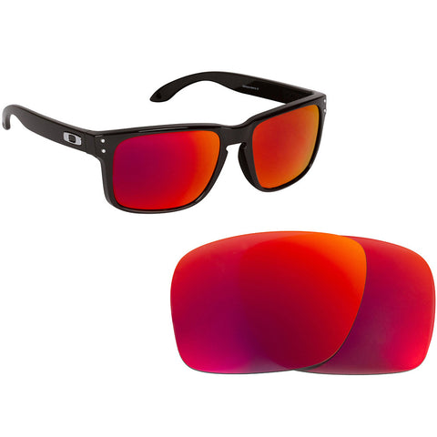 71d08ccb5a Black Red Mirrored Polarized Lens for Oakley Holbrook frame