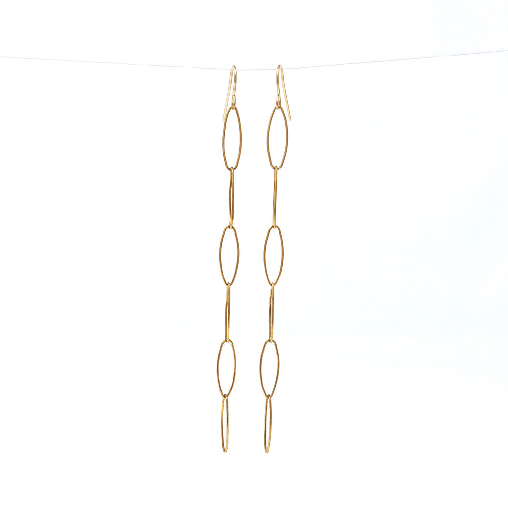 Six Link Dangle Earrings in Gold Fill or Sterling Silver