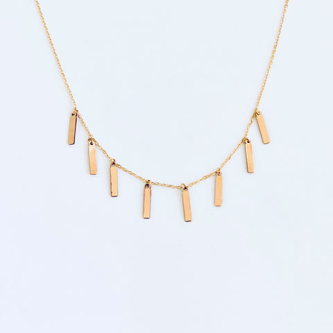 EIGHT Vertical Bar Necklace
