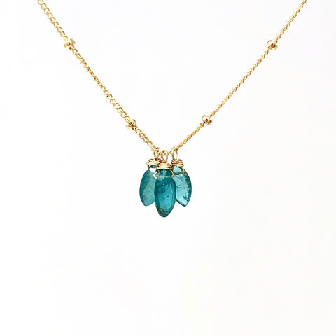 Apatite Petal Stone Necklace