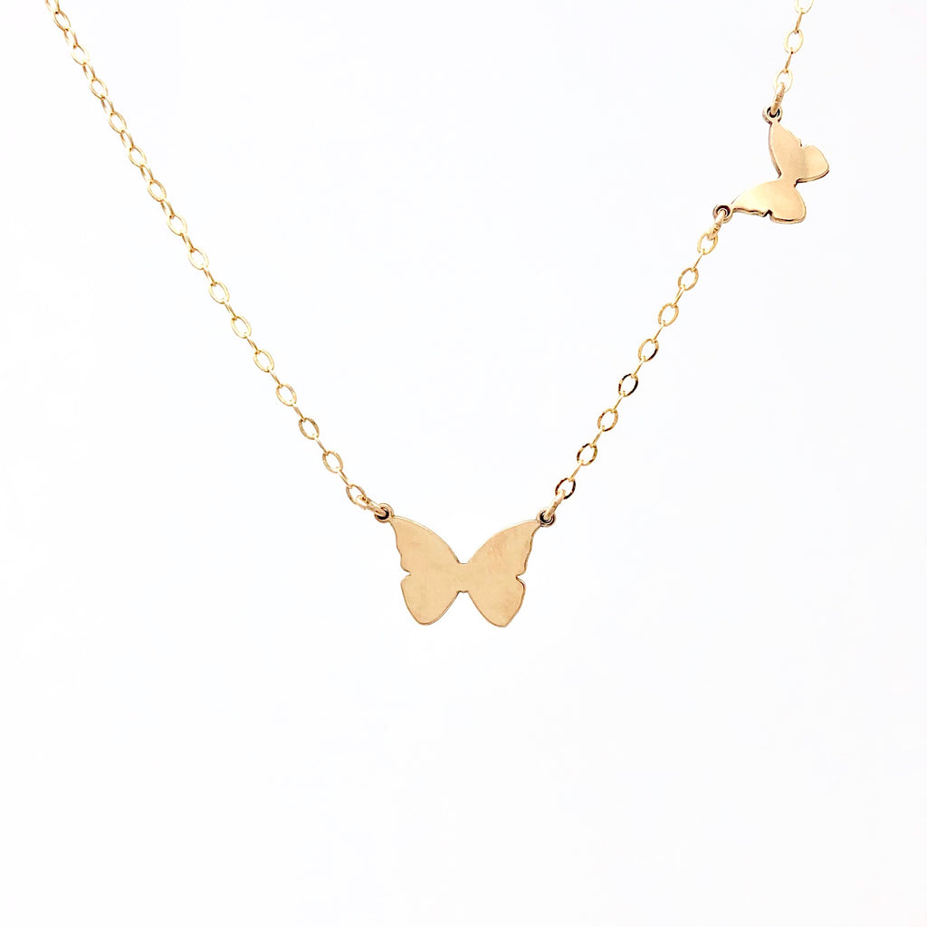 Side By Side BUTTERFLIES Necklace
