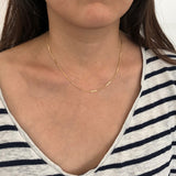 Gold Fill DETAILED CHAIN BAR Necklace