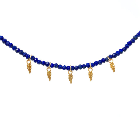 Charmed Lapis Lazuli Gold Fill Necklace also in Sterling Silver