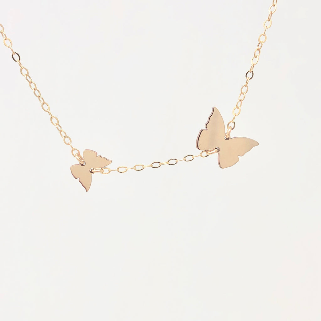 Two CHASING BUTTERFLY Necklace