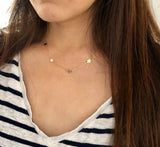 DELICATE STAR Gold Fill Necklace also in Rose Gold Fill and Silver