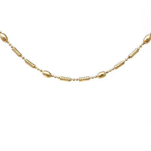 Detailed Column Gold Necklace