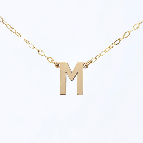 Double Connected Letter Gold Fill Necklace also in Sterling Silver and Rose Gold Fill
