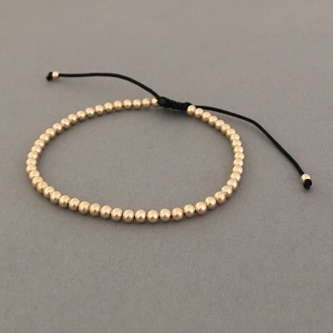 Adjustable Gold Fill Ball Bracelet