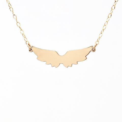 Angel Wings Gold Fill Necklace