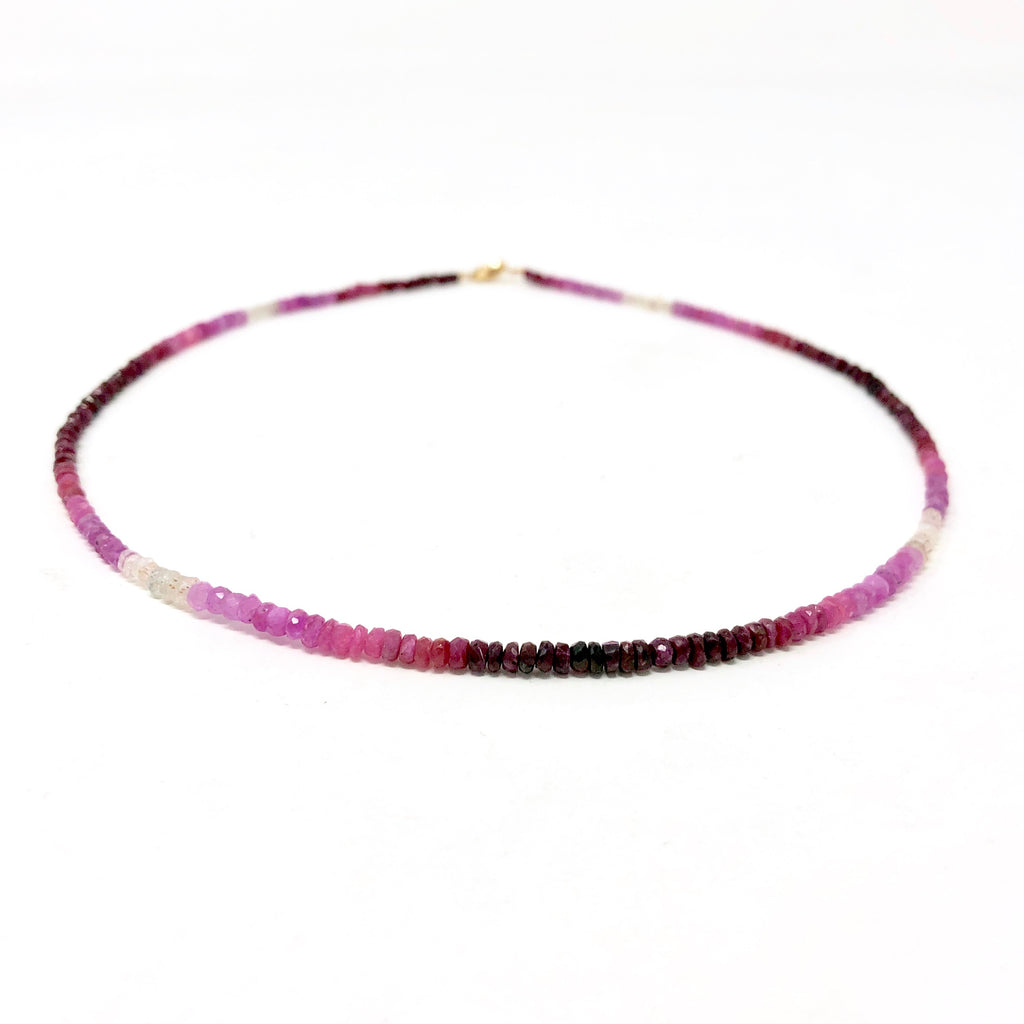 Ruby Ombre Beaded Necklace