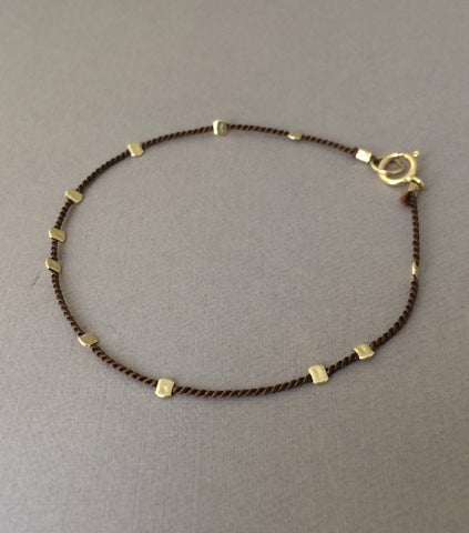 Beaded Silk String Bracelet