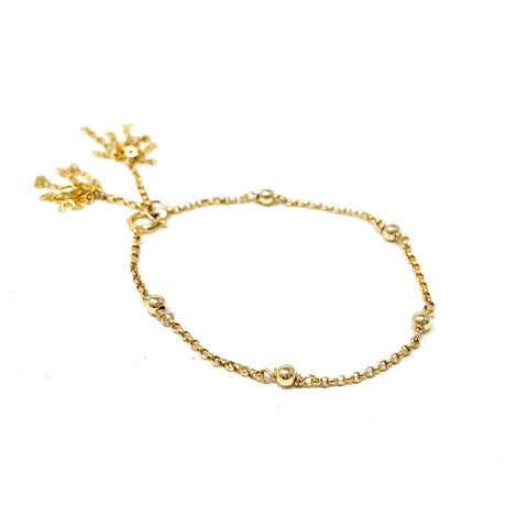 Large Ball Gold Fill Chain Bracelet also in Rose Gold Fill and Sterling Silver