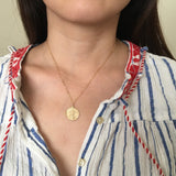 LARGE CIRCLE Virgin Mary Necklace available in Gold Fill or Sterling Silver