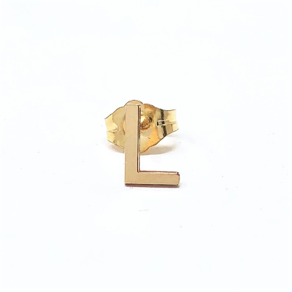 Letter Stud Earrings in Gold Fill, Rose Gold Fill, or Sterling Silver