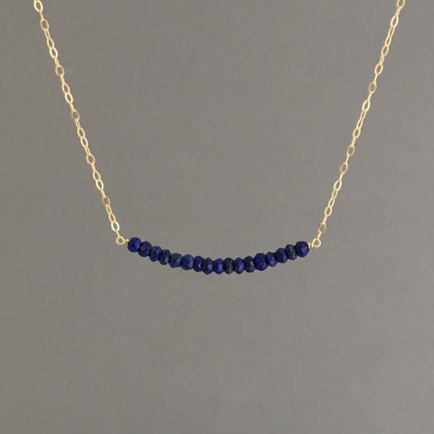 Blue Lapis Beaded Necklace