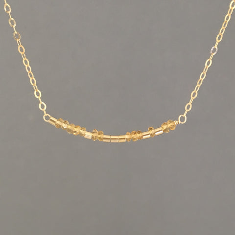 CITRINE Morse Code Necklace