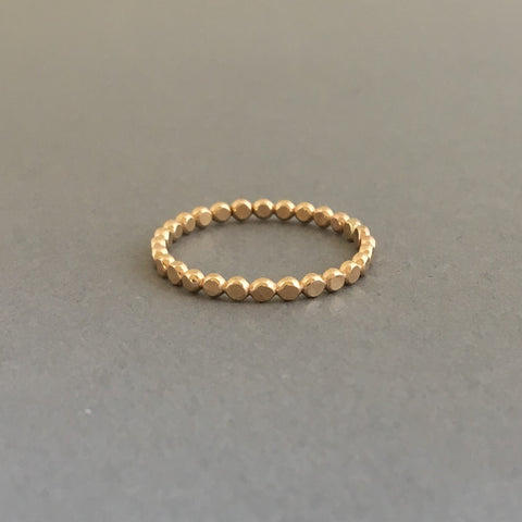 Hammered or Round Bubble Ring