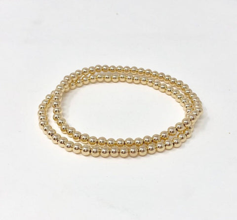 4mm Beaded Ball Bracelet