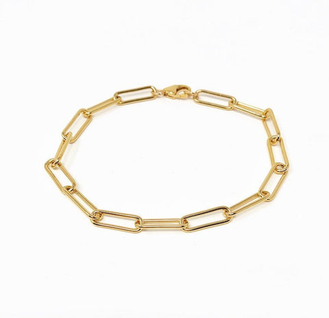 THICK Rectangle Link Chain Bracelet