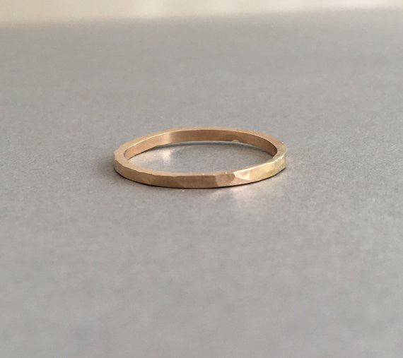 Hammered Thick Ring