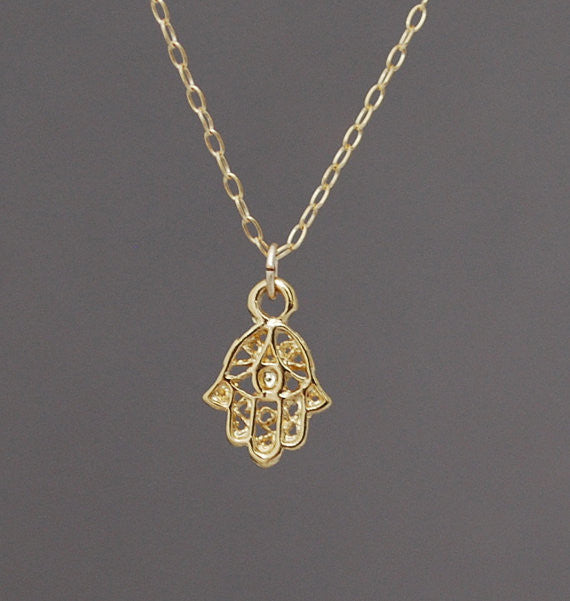 Hamsa w/Evil Eye Necklace