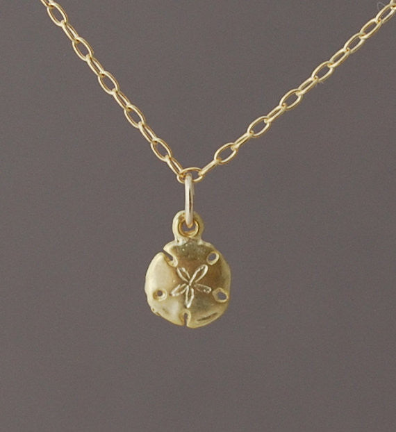 Tiny Sand Dollar Necklace