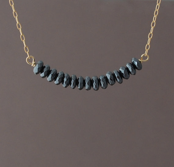 Black Hematite Beaded Necklace