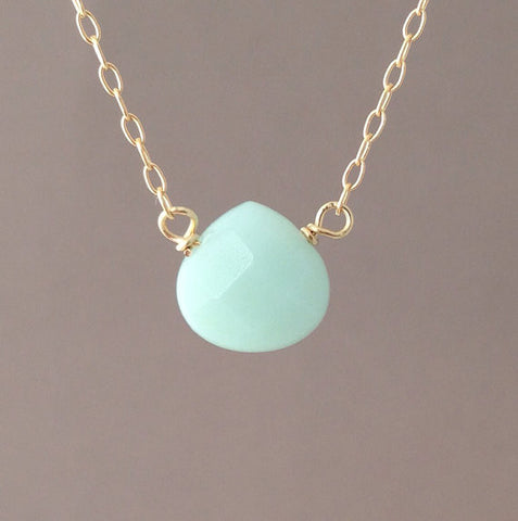 Amazonite Blue Drop Necklace