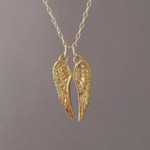 Duo Angel Wing Necklace