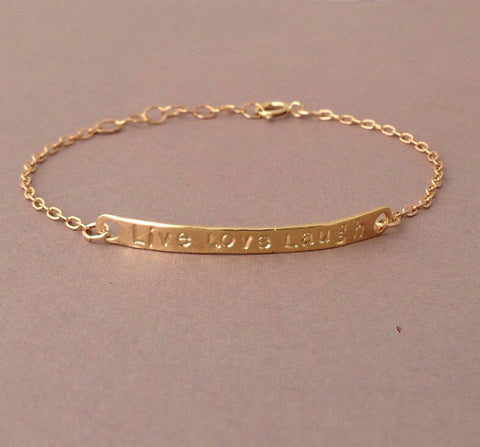 LIVE LOVE LAUGH Bar Bracelet