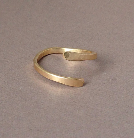 Twisted Hammered Ring