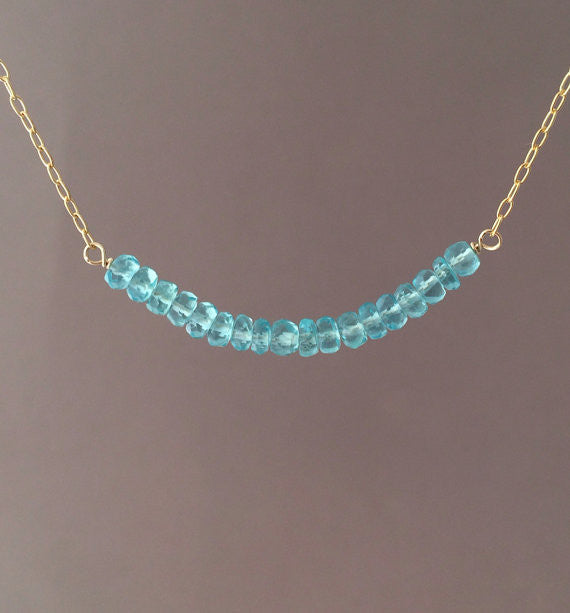 Apatite Beaded Necklace