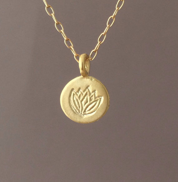 Lotus Stamp Necklace
