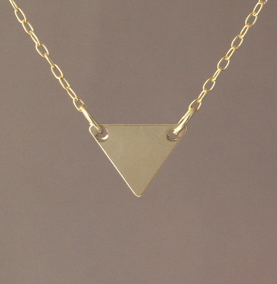Double Connected Triangle Necklace