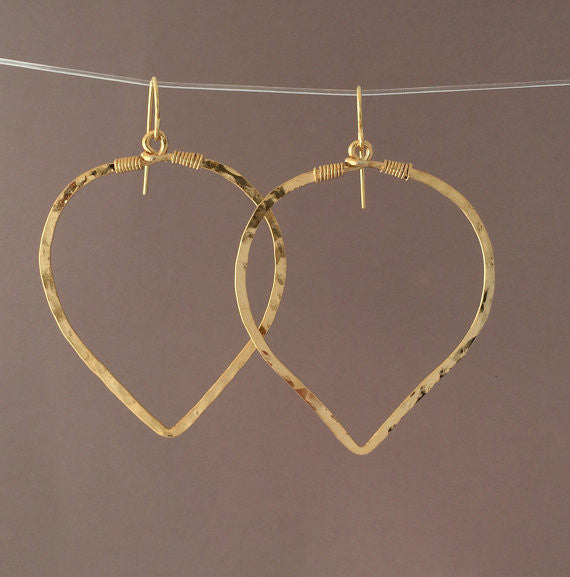Petal Circle Hoop Earrings
