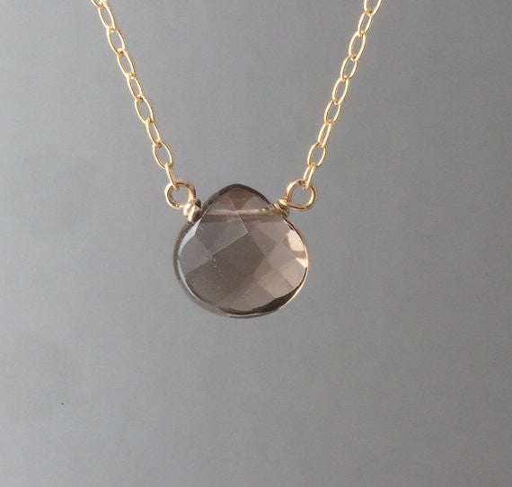 Brown Smoky Quartz Necklace