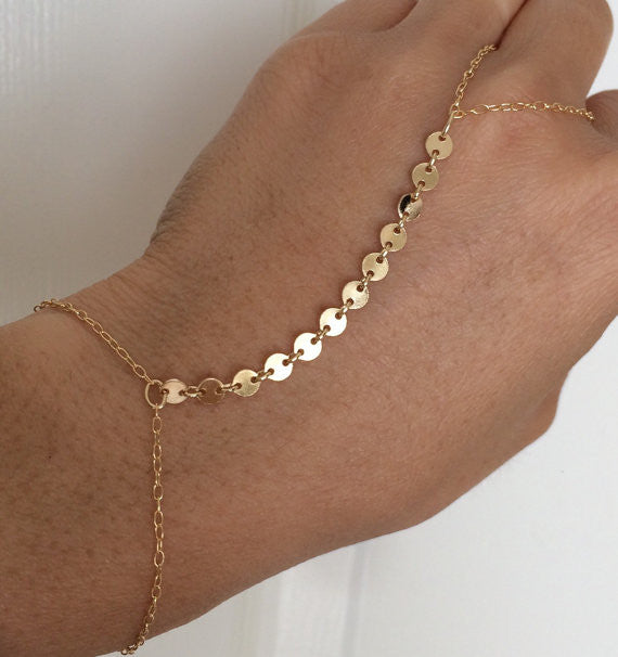 Sequin Connected Disc Hand Chain