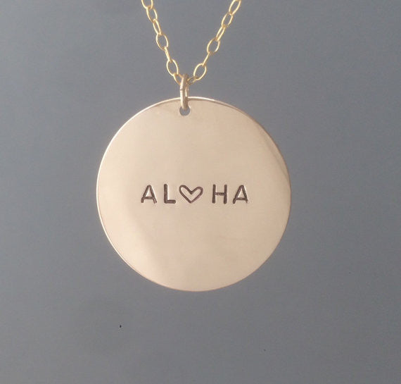 ONE INCH Coin Personalized Disc Necklace
