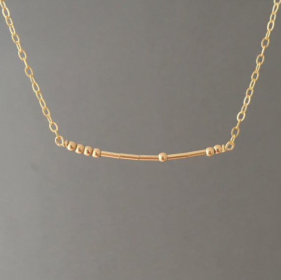Morse Code Necklace JENNY and JUDE