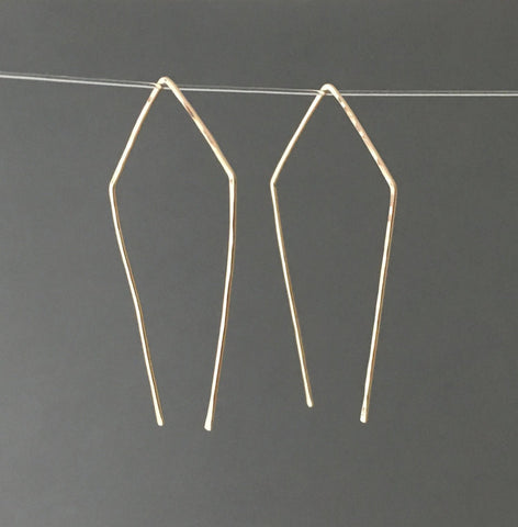 Geometric Pull Through Earrings