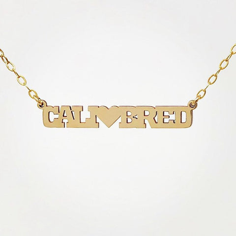 CUSTOM and UNIQUE Word Charm Gold Fill Necklace also in Silver and Rose Gold Fill
